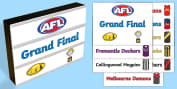 Festivals and Celebrations AFL Grand Final Day Primary Resources