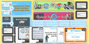 Computing Primary Resources, signs, area, zones, banner, poster
