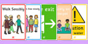 Safety, Classroom Safety,  Primary Resources, Health and Safety,