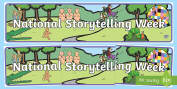 Organised Events & Awareness Days/Weeks National Storytelling Wee
