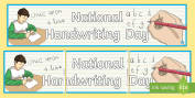 Festivals & Cultural Celebrations National Handwriting Day Primar