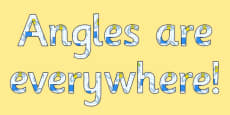 Angles are Everywhere - display lettering
