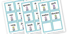 Phase 3 Nonsense Words Flashcards