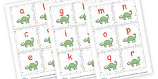 Dinosaur Lowercase Alphabet Cards