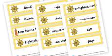 Buddhism Vocab Cards