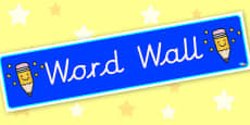 Word Wall Display Banner