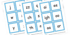 Phase 3 Phonemes Cards