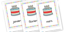 Birthday Months French