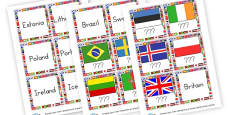 Flags and Countries Cards