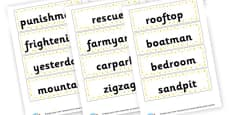 Two Syllable Word Cards
