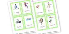 Sports Cards (4 per page)