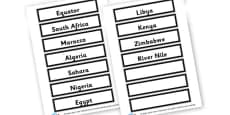 Africa Word Cards