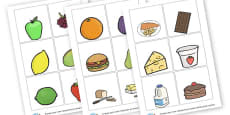 Food Themed Picture Cards