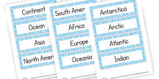 Geography Words Cards