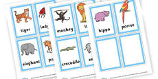 2 and 3 Syllable Animal Pictures
