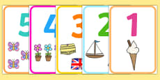 Number Picture Poster 1-20