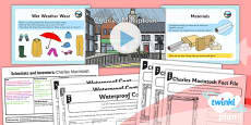 PlanIt - Science Year 2 - Scientists and Inventors Lesson 4: Charles Macintosh Lesson Pack