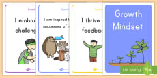 Growth Mindset Statement Posters Display Posters