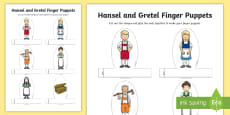 Hansel and Gretel Finger Puppets