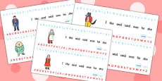 Alphabet Strips to Support Teaching on The Jolly Christmas Postman