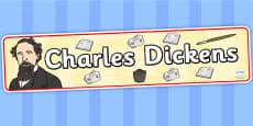 Charles Dickens Display Banner