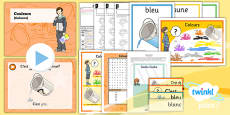 French: All About Me: Colours Year 3 Lesson Pack 4