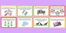 KS1 Subtraction Word Problem Challenge Cards