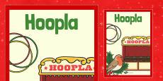 Christmas Themed Hoopla Poster