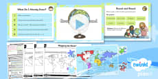PlanIt - Geography KS1 - What a Wonderful World Lesson 1: Round and Round Lesson Pack