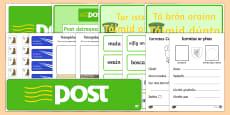 Oifig an Phoist Role Play Pack Gaeilge