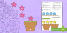 Mother's Day Flowers in Pot Card English/Polish