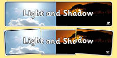 Light and Shadow Photo Display Banner