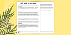 Holy Week KS1 Pack Writing Ideas