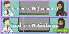Teachers Noticeboard Display Banner