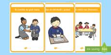 Classroom Golden Rules Display Pack Gaeilge