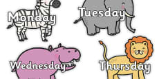 Day of the Week on Safari Animals