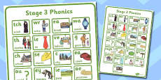 Active Literacy Phonics Programme Stage 3 Large Poster 4xA4