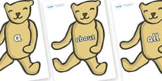 100 High Frequency Words on Old Teddy Bears