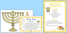 Menorah Busy Bag Prompt Card and Resource Pack