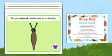 Minibeasts Playdough Busy Bag Prompt Card and Resource Pack