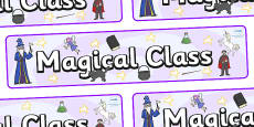 Magical Themed Classroom Display Banner