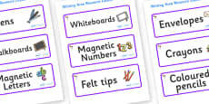 Lollipops Themed Editable Writing Area Resource Labels