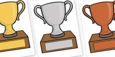 Editable Classroom Award Trophies