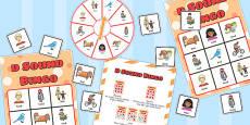 Final 'D' Sound Spinner Bingo