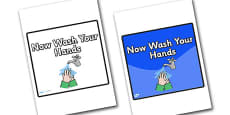 Now Wash Your Hands Area Sign