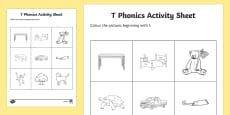 t Phonics Colouring Activity Sheet