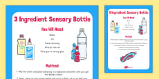 3 Ingredient Sensory Bottle