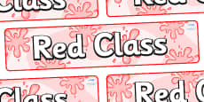 Red Themed Classroom Display Banner