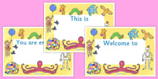 Story Book Themed Editable Class Welcome Signs