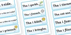 Scottish Gaelic Weather Labels